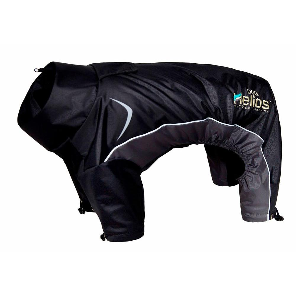 Large Black Blizzard Full-Bodied Adjustable and 3M Reflective Dog Jacket