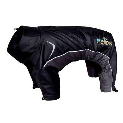 Medium Black Blizzard Full-Bodied Adjustable and 3M Reflective Dog Jacket
