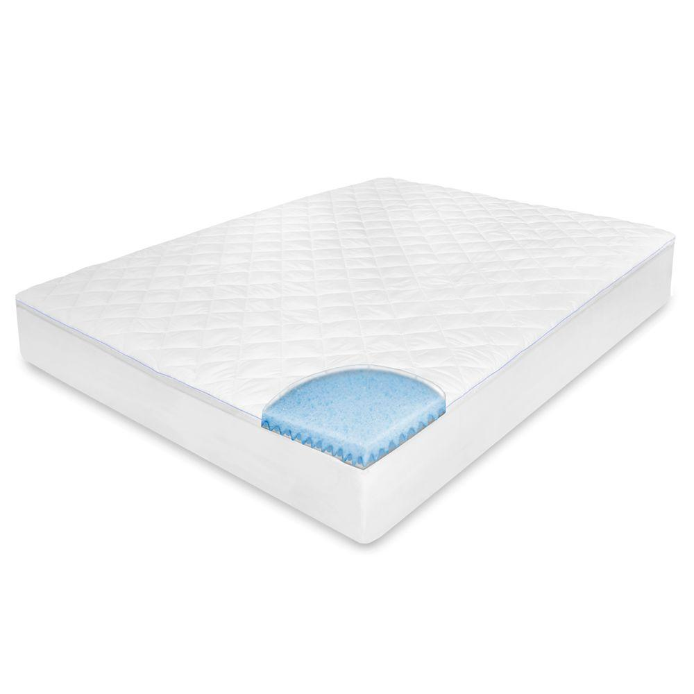 biopedic king memory foam mattress pad 71084 the home depot. Black Bedroom Furniture Sets. Home Design Ideas