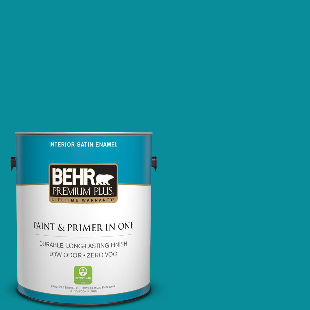 BEHR Premium Plus 1-gal. #P470-6 Bella Vista Satin Enamel Interior Paint