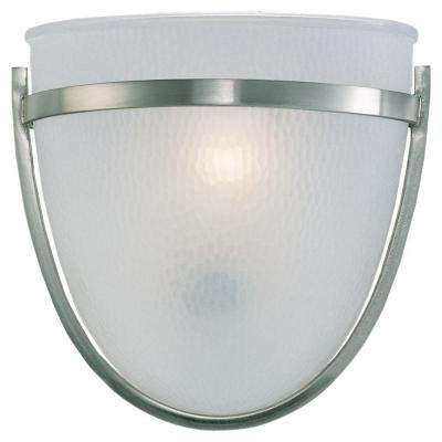 Eternity 1-Light Brushed Nickel Sconce
