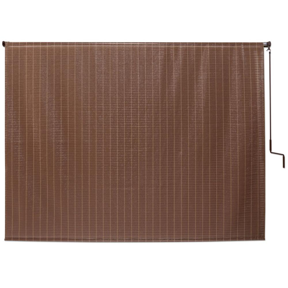 Coolaroo Alderwood Cordless UV Protection Polypropylene Wand Operated Roller Shade 96 in. W x 72 in. L