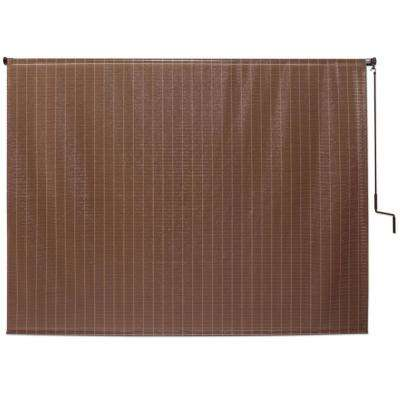 Alderwood Cordless UV Protection Polypropylene Wand Operated Roller Shade 96 in. W x 72 in. L