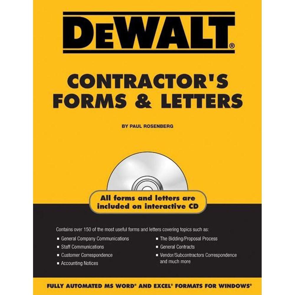 null DEWALT Contractor's Forms and Letters with CDROM