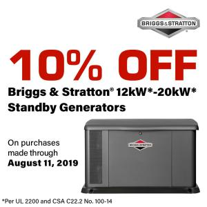 Briggs & Stratton 12,000-Watt Automatic Air Cooled Standby Generator
