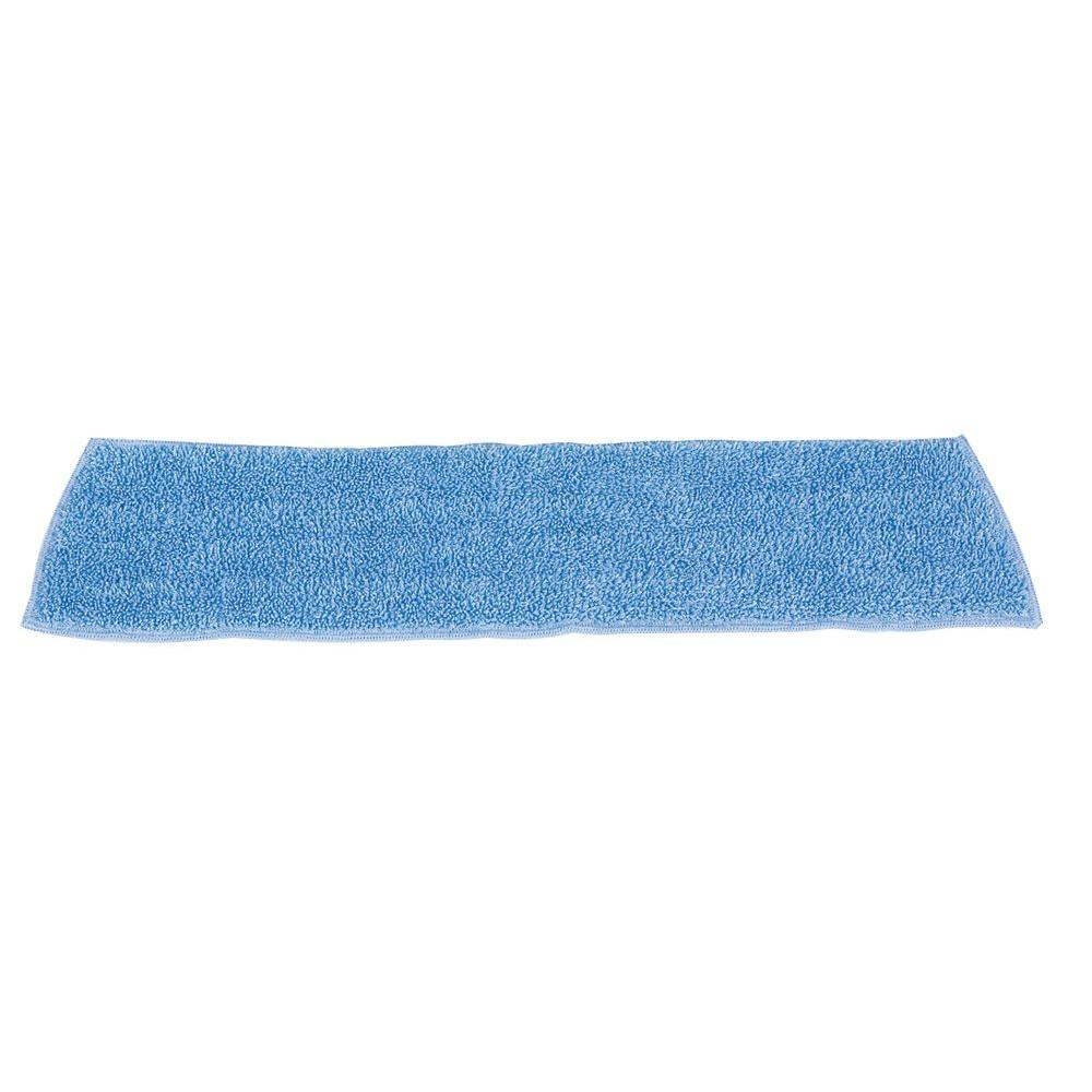 18 in. Standard Microfiber Damp Room Mop Pad (Case of 12)