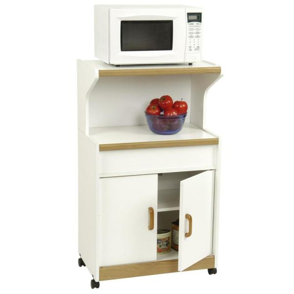 Kershaw White Microwave Cart