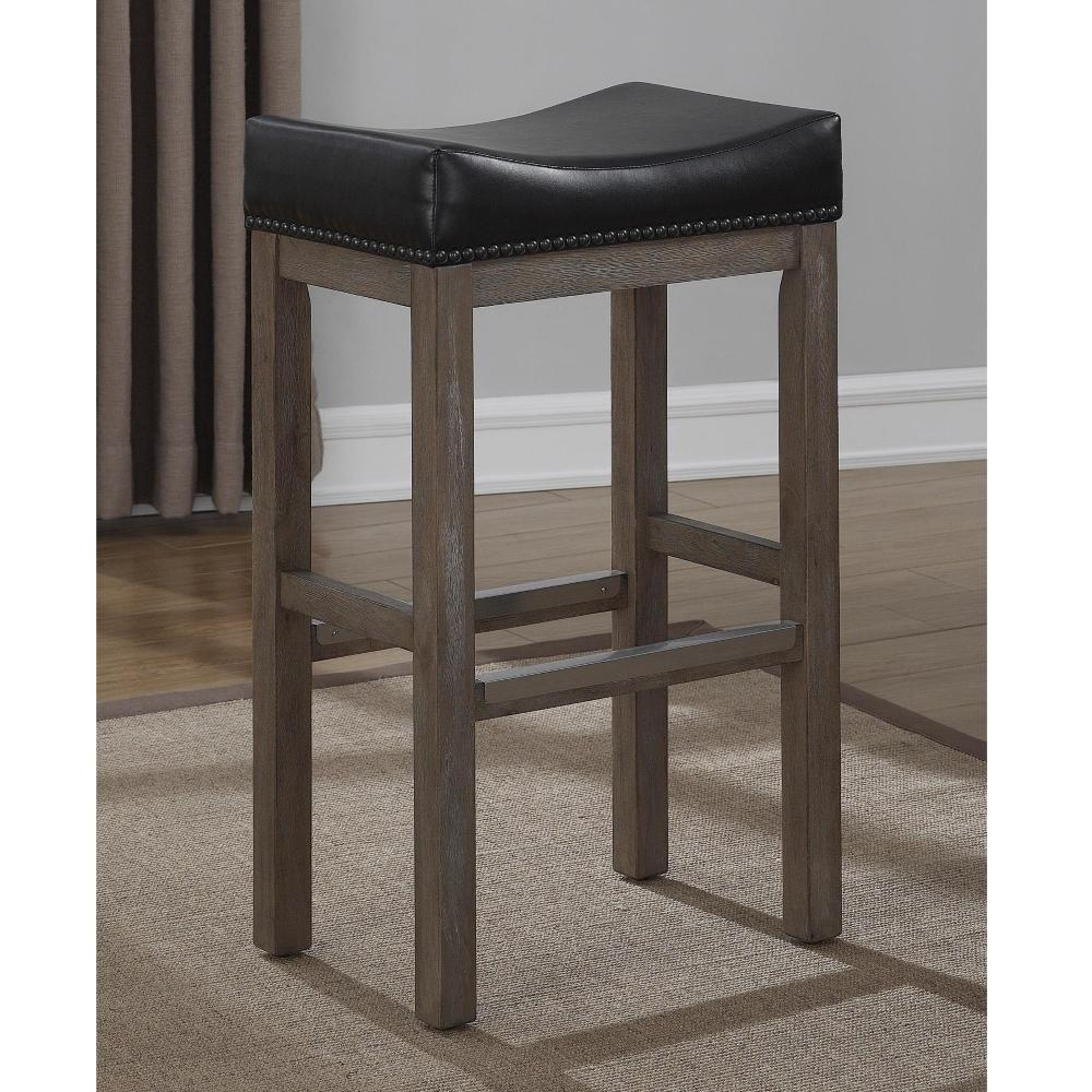 American Woodcrafters Walker Creek 26 in. Grey Driftwood Saddle Seat Counter Stool-B2-207-26L - The Home Depot  sc 1 st  The Home Depot & American Woodcrafters Walker Creek 26 in. Grey Driftwood Saddle ... islam-shia.org