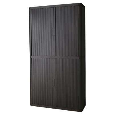 Paperflow easyOffice Black 80 in. Tall Storage Cabinet with 4-Shelves