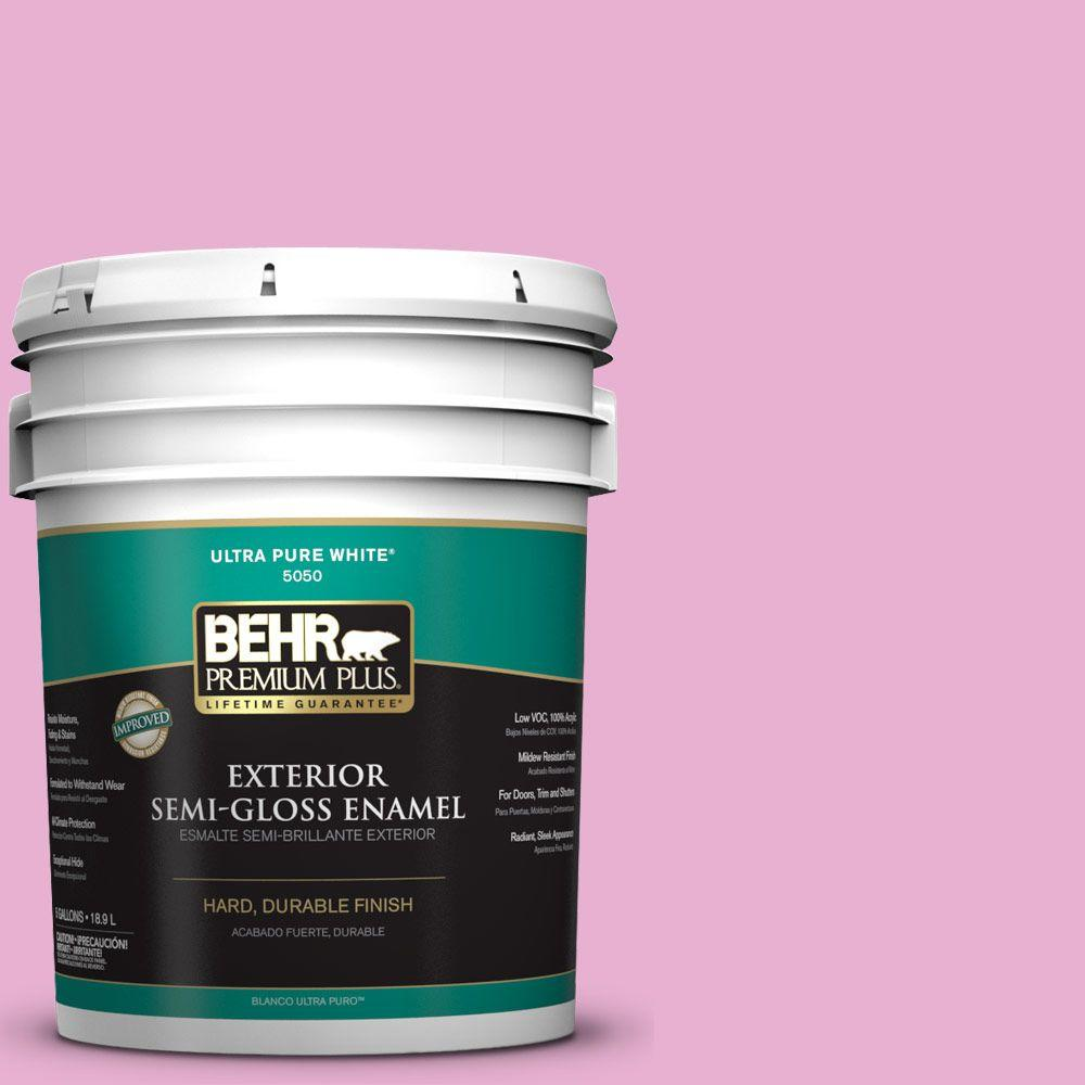 BEHR Premium Plus 5-gal. #P120-2 Gumball Semi-Gloss Enamel Exterior Paint