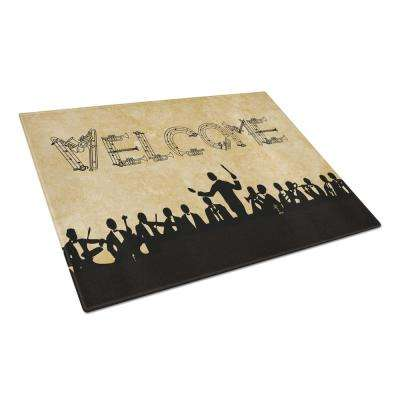 Welcome Symphony Tempered Glass Large Cutting Board