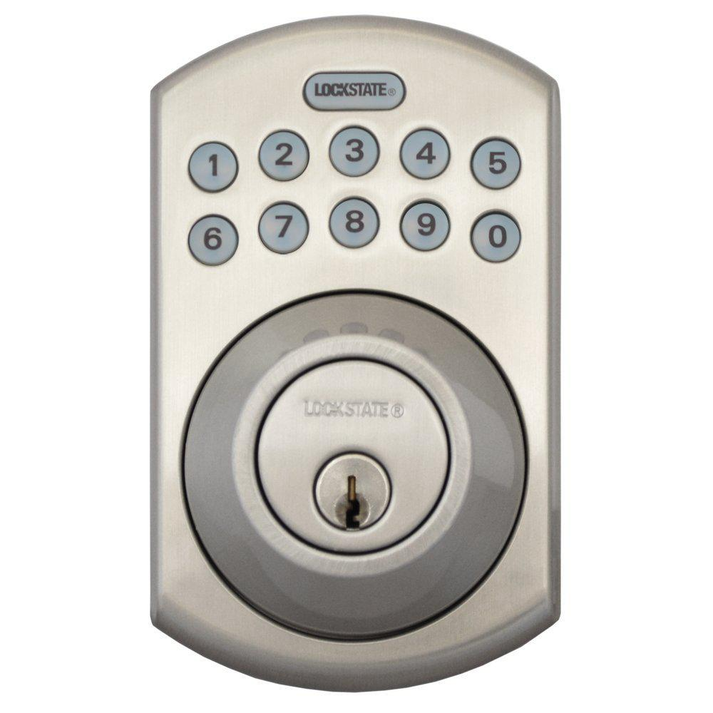 RemoteLock 5i WiFi Satin Nickel Electronic Deadbolt Door Lock   Boulder