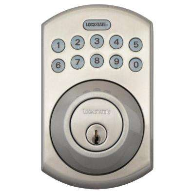 RemoteLock 5i WiFi Satin Nickel Electronic Deadbolt Door Lock - Boulder