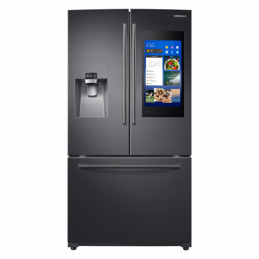 Samsung 242 Cu Ft Family Hub French Door Smart Refrigerator In