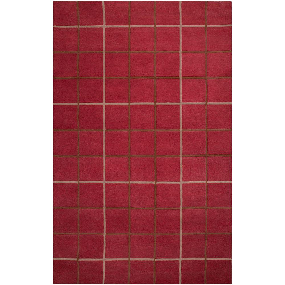 Artistic Weavers Calvert Brick Red 5 ft. x 8 ft. Area Rug