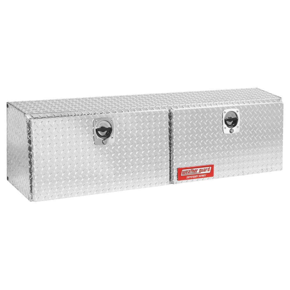 Weather Guard 60.13 Diamond Plate Aluminum Full Size Top Mount Truck Tool Box