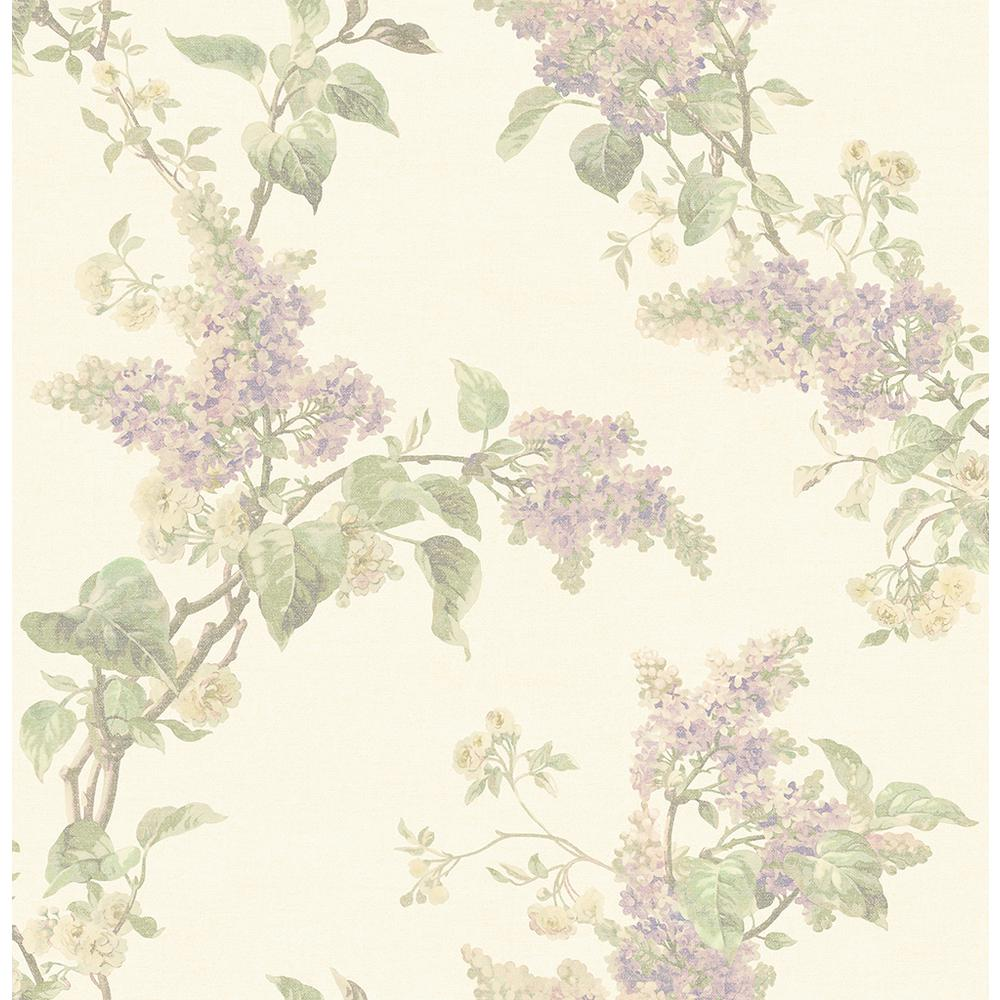Brewster 8 In X 10 In Lyon Lavender French Lilac Wallpaper