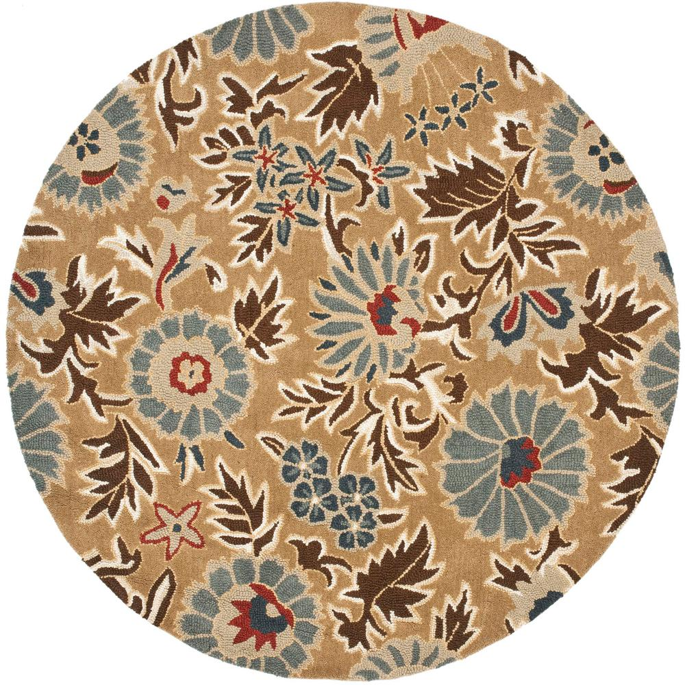 safavieh blossom beige multi 4 ft x 4 ft round area rug blm912c 4r the home depot. Black Bedroom Furniture Sets. Home Design Ideas