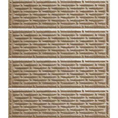Khaki 8.5 in. x 30 in. Mesh Stair Tread Cover (Set of 4)