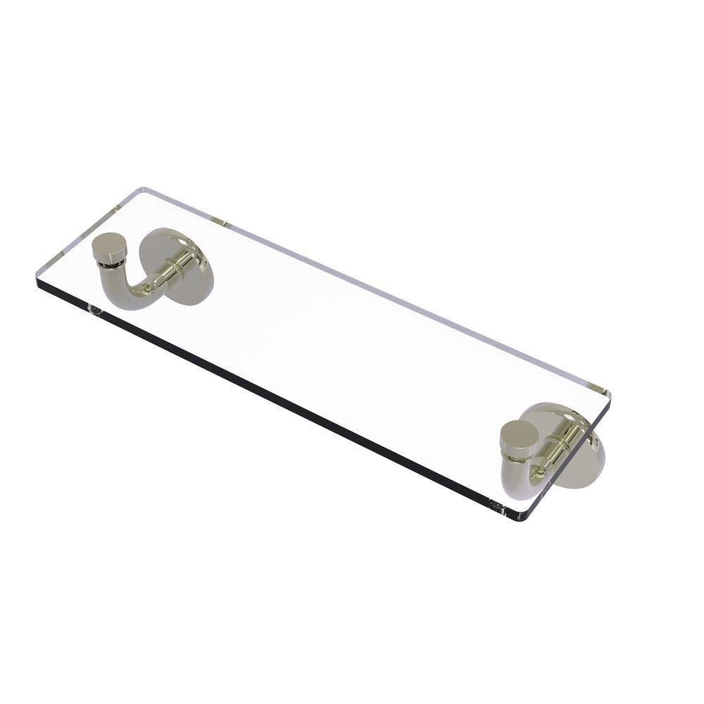 Remi Collection 16 in. Glass Vanity Shelf with Beveled Edges in