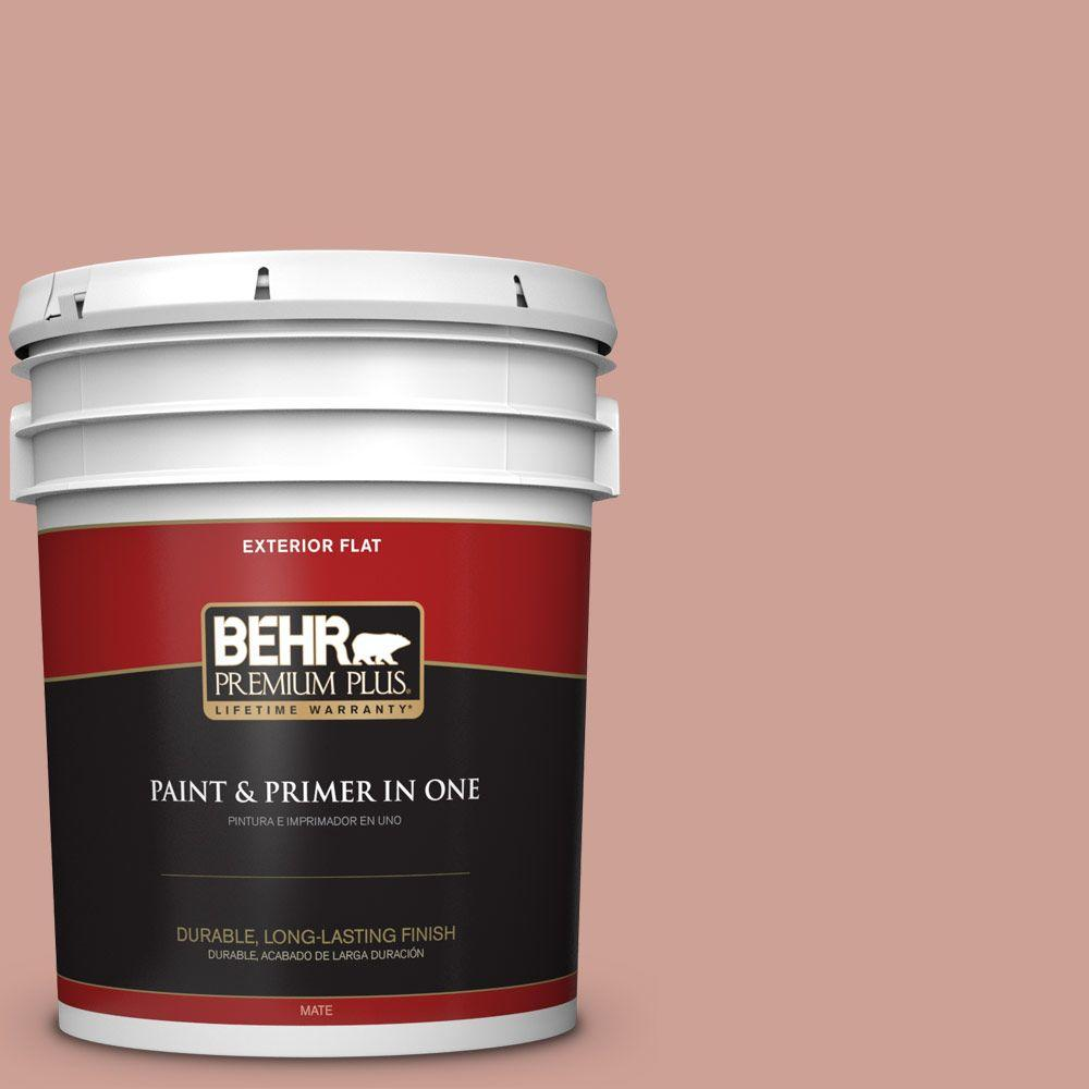 BEHR Premium Plus 5-gal. #220F-4 Sombrero Tan Flat Exterior Paint