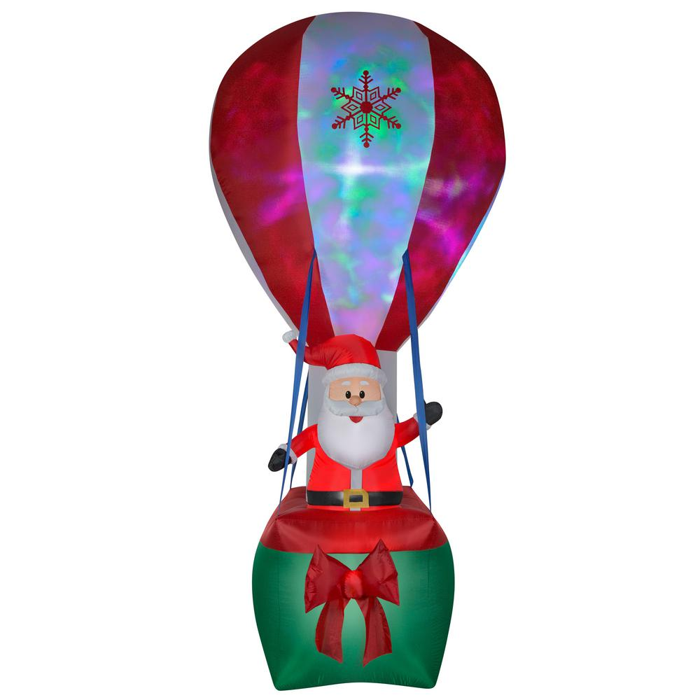Santa Hot Air Balloon Inflatable Home Depot