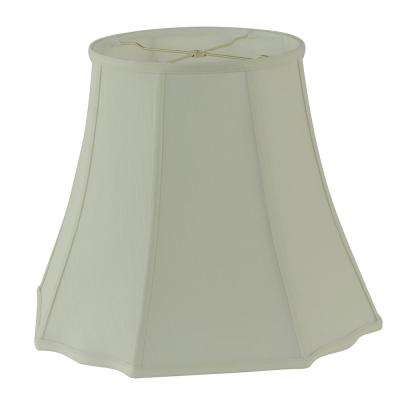 18 in. Dia x 15 in. H Creme Linen Square Cut Bell Lamp Shade