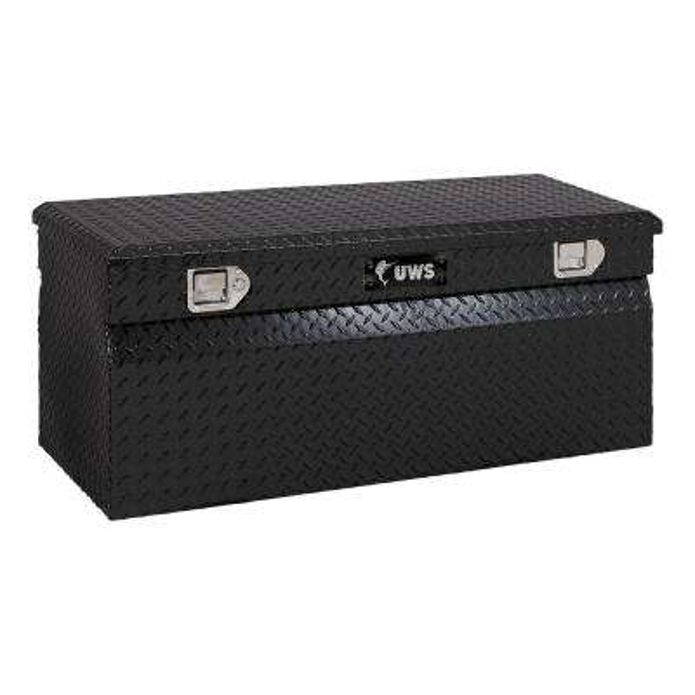 47.875 Gloss Black Aluminum Full Size Chest Truck Tool Box