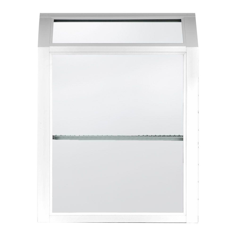 American craftsman in x in white hopper Garden window home depot