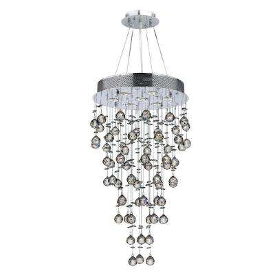 Icicle 7-Light Chrome and Clear Crystal Chandelier