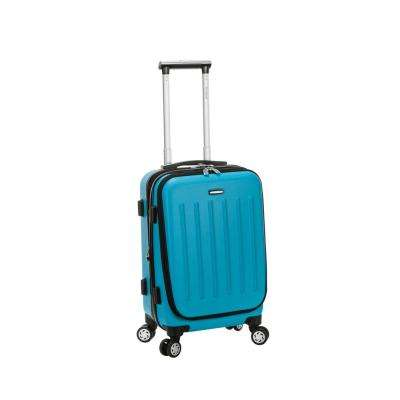 Rockland Expandable Titan 19 in. Hardside Spinner Laptop Carry-On Suitcase, Turquoise