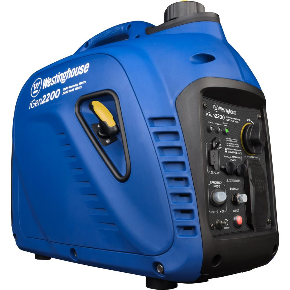 Westinghouse Westinghouse 2,200/1,800-Watt Super Quiet Gas Powered Portable Inverter Generator