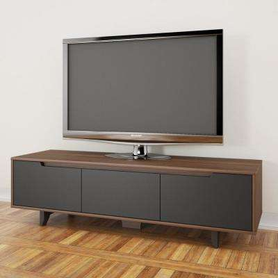 Alibi Walnut and Charcoal Entertainment Center