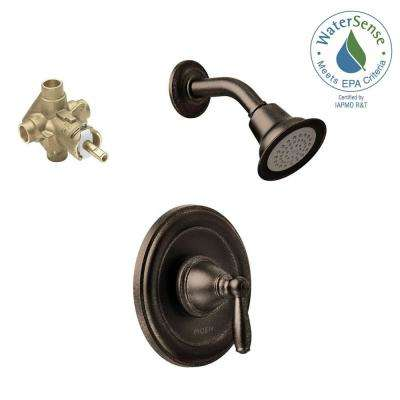 Brantford Single-Handle 1-Spray Posi-Temp Shower Faucet Trim Kit with Valve in Oil Rubbed Bronze (Valve Included)