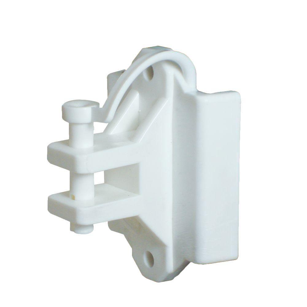 T-Post/Wood Pinlock Polywire Insulator - White