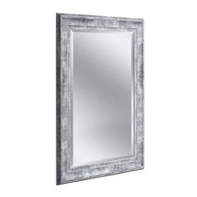 Farmhouse 31 in. x 43 in. Wall Mirror in Gray