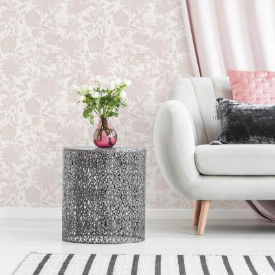 Garden Floral Dusted Pink Peel and Stick Wallpaper 28 sq. ft.