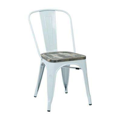Bristow White and Ash Crazy Horse Metal/Wood Side Chair (Set of 4)