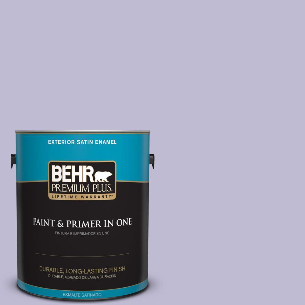 BEHR Premium Plus 1-gal. #640C-3 Twilight Pearl Satin Enamel Exterior Paint