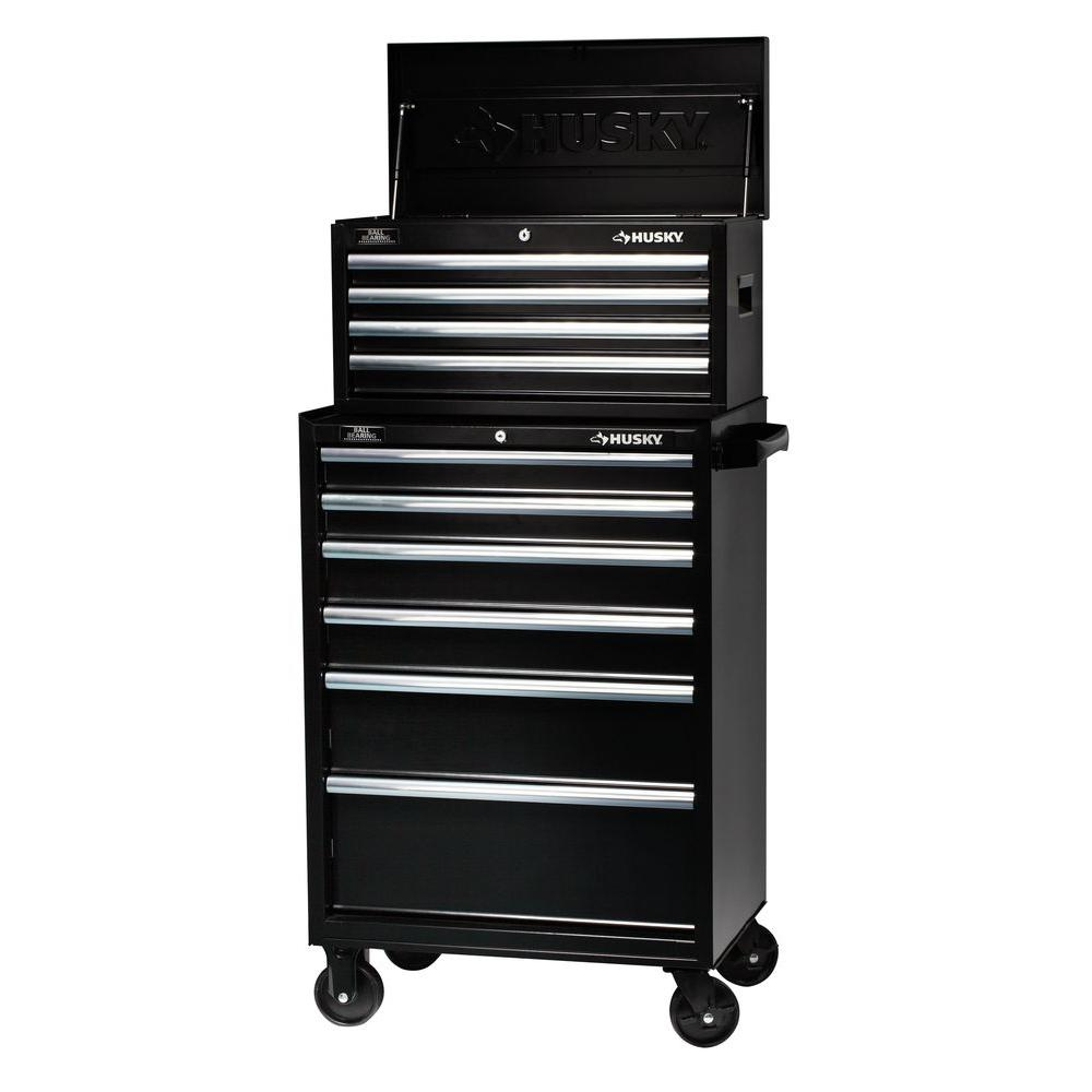 Husky 27 in. W 10-Drawer Tool Chest and Cabinet Set