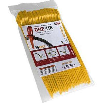 8 in. Cable Ties, Yellow (25-Pack)
