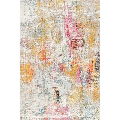 Cezanne Modern Multi 5 ft. x 8 ft.  Area Rug