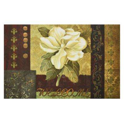 Magnolia Welcome 18 in. x 30 in. Rubber Entrance Mat