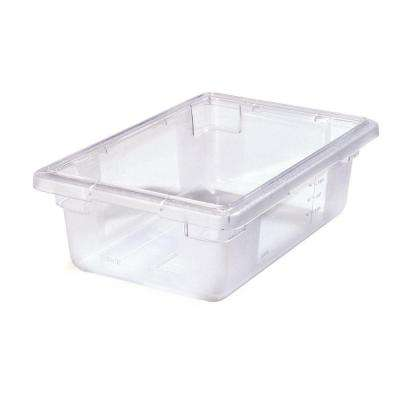 Color-Coded 3.5 gal., 12x18x6 in. Polycarbonate Food Storage Box in Clear (Case of 6)
