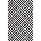 Kellee Contemporary Black 5 ft. x 8 ft.  Area Rug