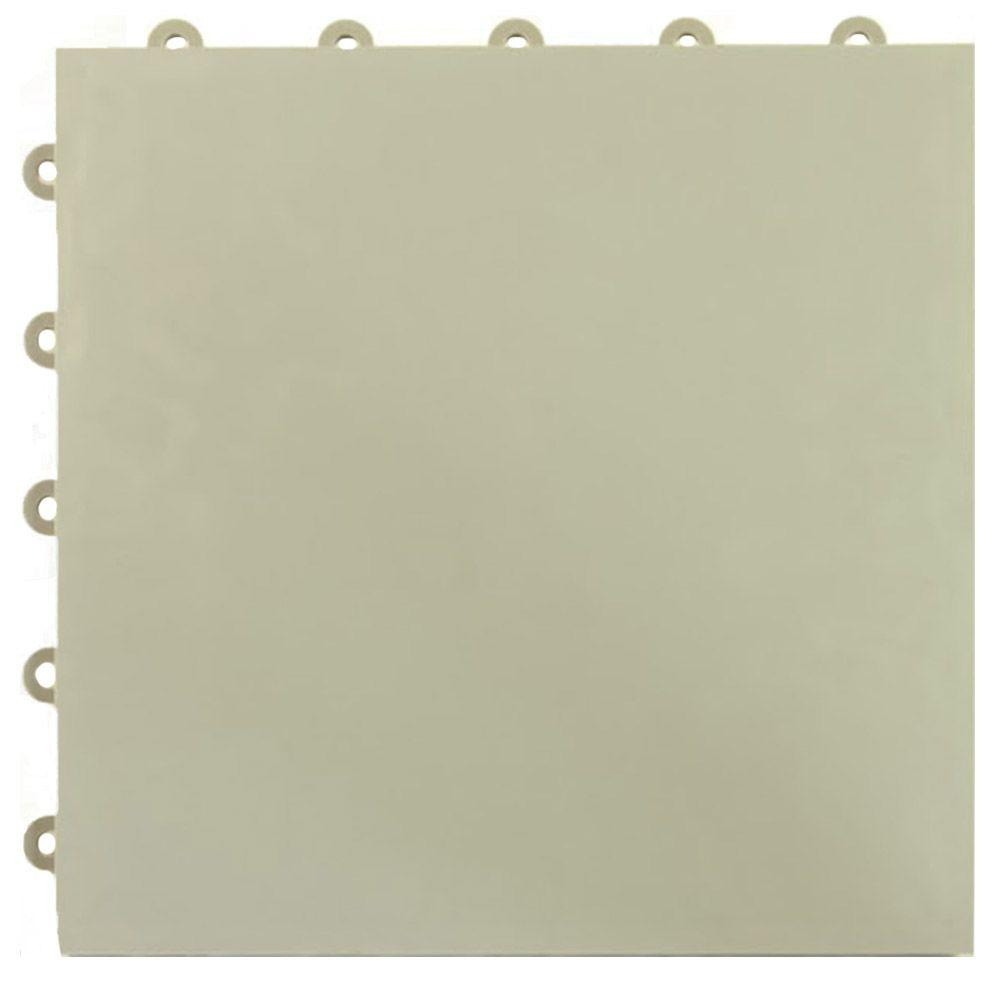 Court Floor Flat Top Light Gray 12-1/8 in. x 12-1/8 in.