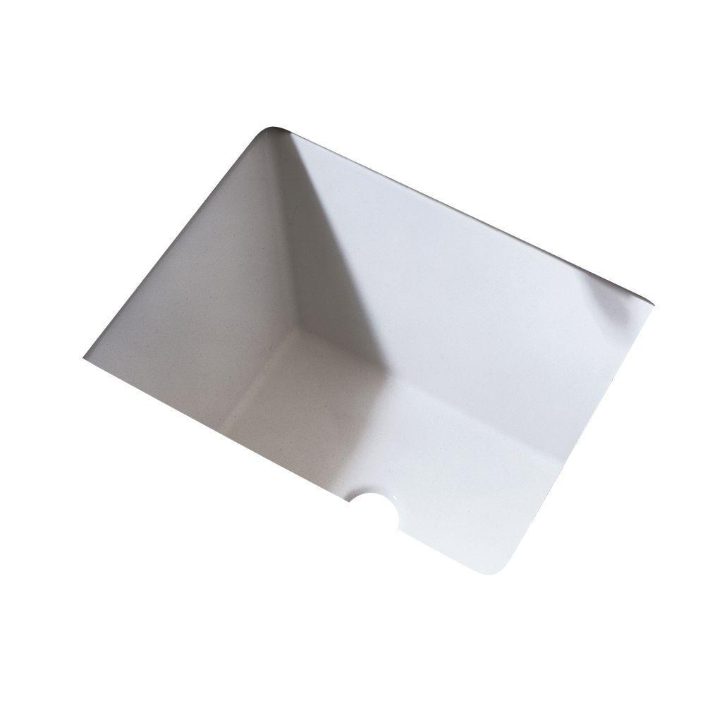 Boulevard Undermount Bathroom Sink in White
