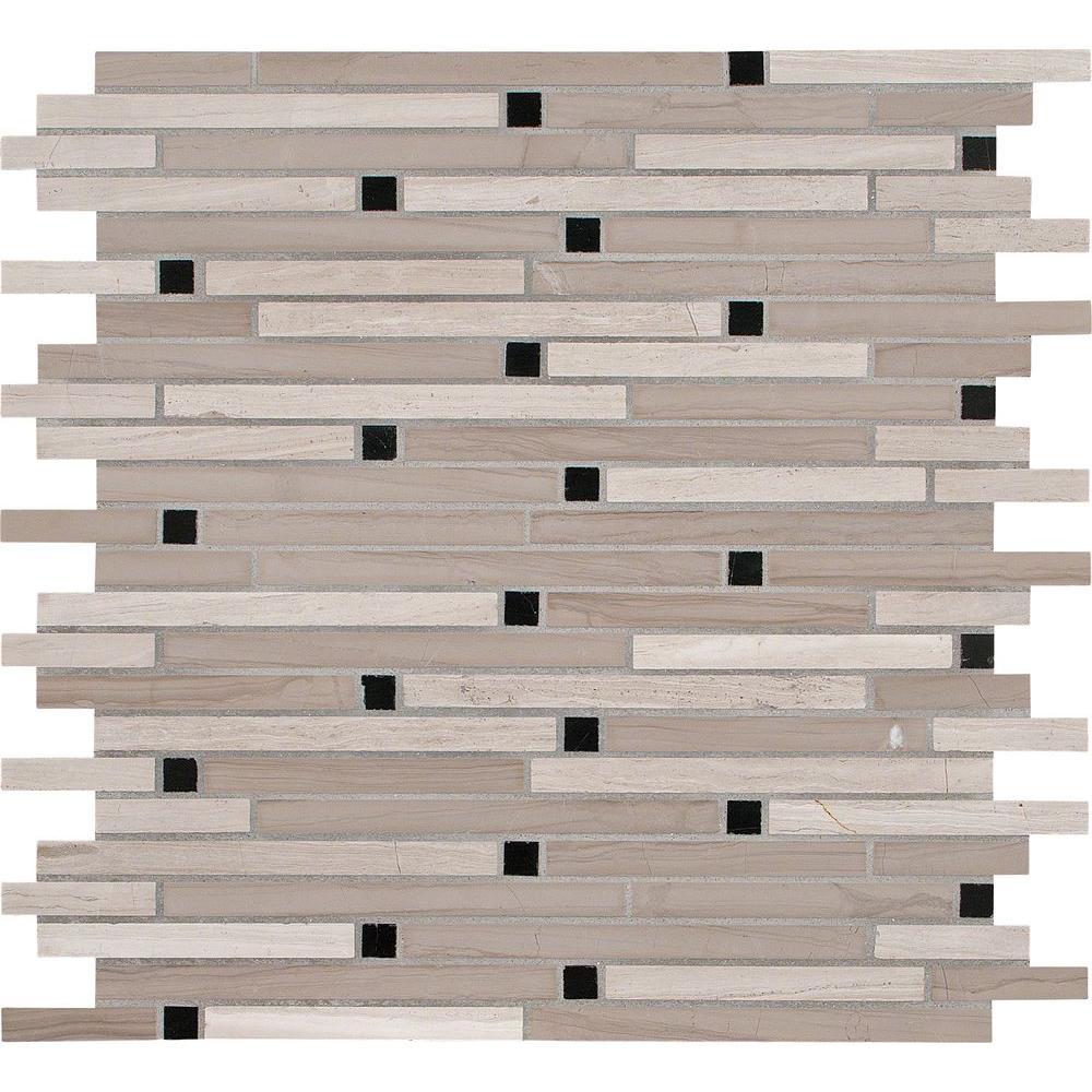 White Oak Interlocking 12 in. x 12 in. x 10 mm