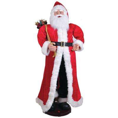 60 in. Traditional Santa Musical and Animated with Gifts