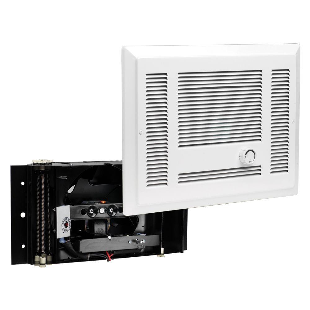 SL Series 1,000-Watt 120-Volt Electric In-Wall Fan Heater White